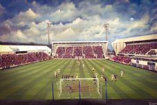 Dunfermline  v Raith Rovers 20'' x 30'' approx poster print